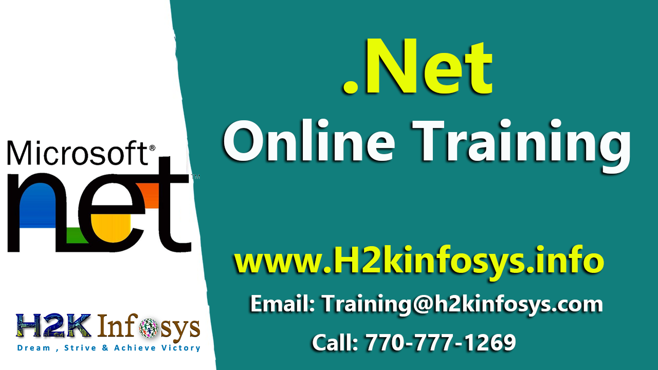 .NET Training Online with Live Projects in USA