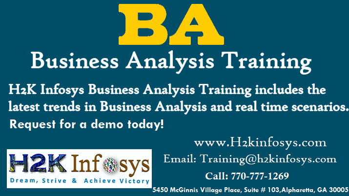 Business Analyst Online Training in USA by H2kinfo