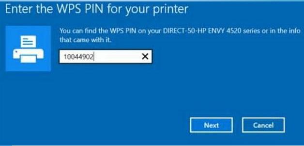Find WPS Pin on HP Printer