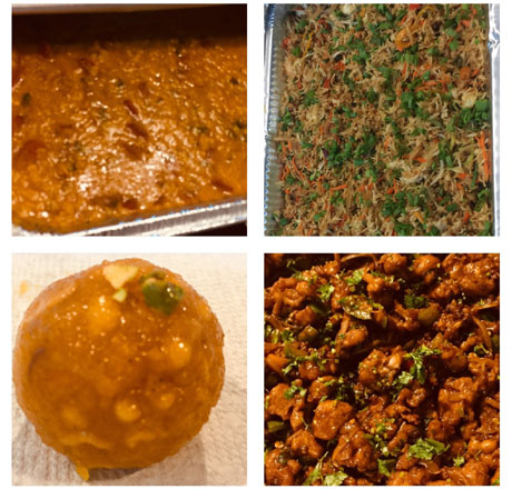 Fresh home made Indian food
