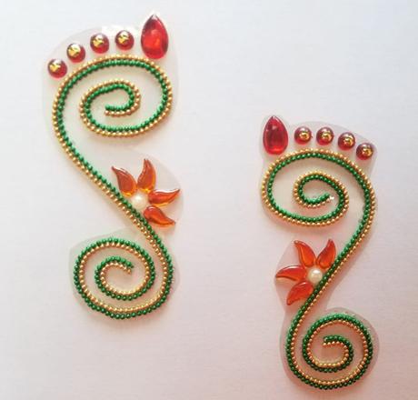 Handmade Indian Rangoli art items for sale