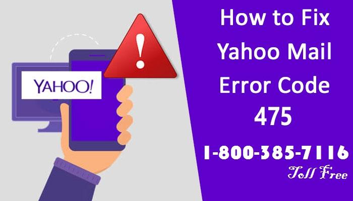 How to Fix Yahoo Mail error code 475