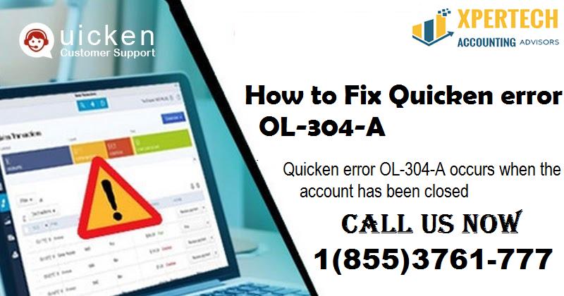 How to fix Quicken error OL-304-A