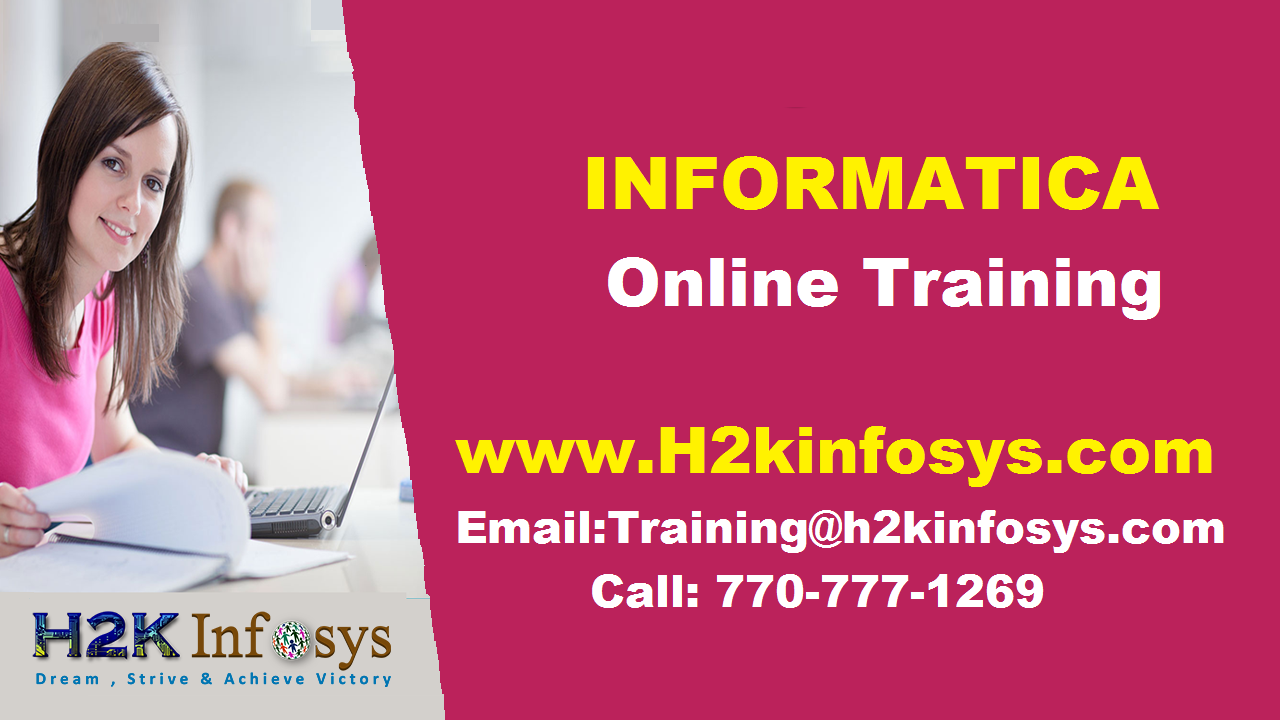Informatica Online Training Course in USA