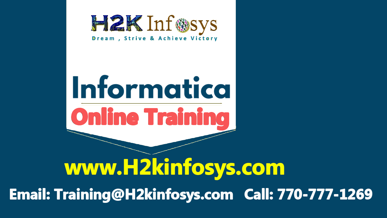 Informatica Online Training and Placement...