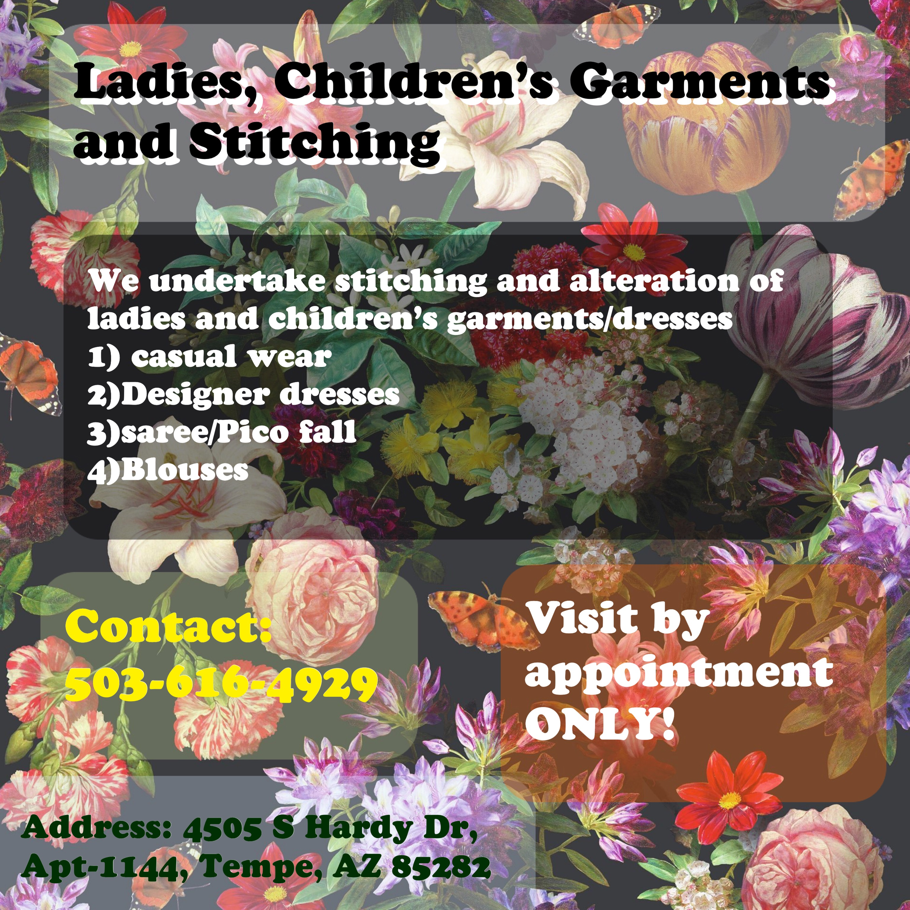 LADIES AND CHILDRENS GARMENTS AND STITCHING