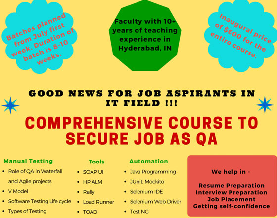 Learn and equip yourselves to secure QA job in IT