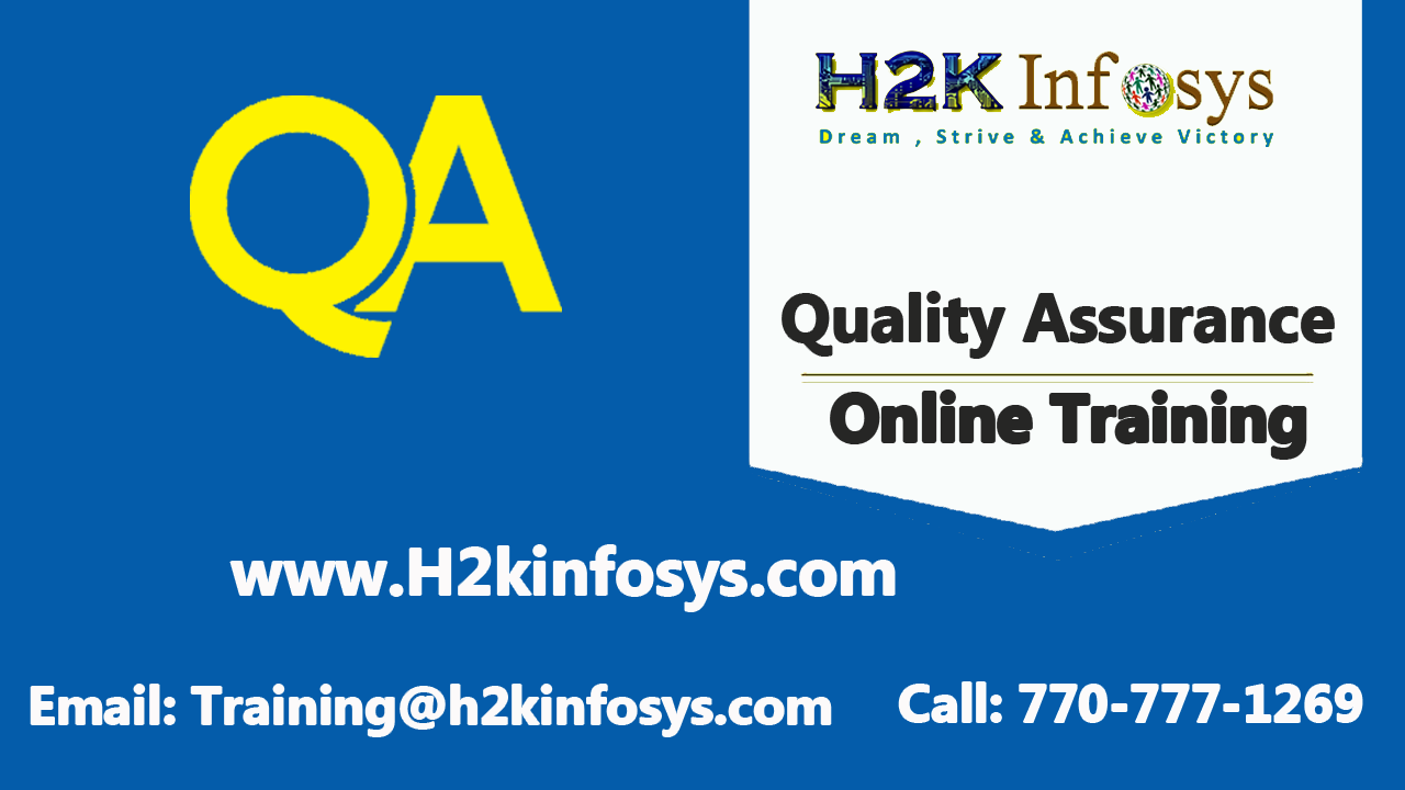 QA Online Training Course in USA