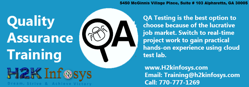 QA Online Training by H2kinfosys