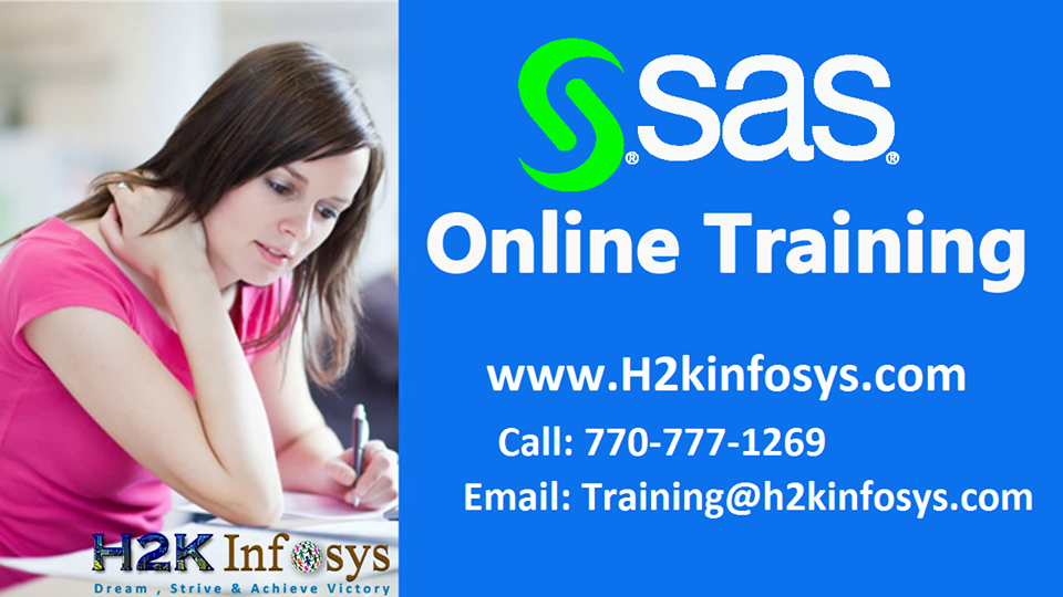 SAS Online Training Course in USA