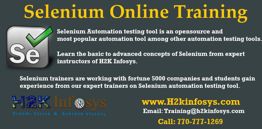 Selenium Online Training Classes