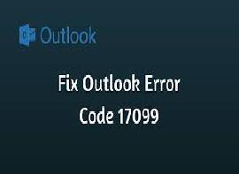 Outlook Error Code 17099