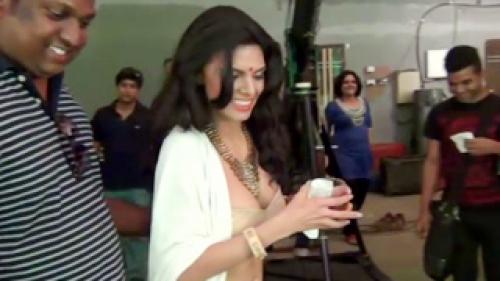 Sherlyn Chopra On Sets Of Kamasutra 3d With Rupesh Paul View