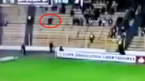 must watch football spectators spooked by stadium ghost