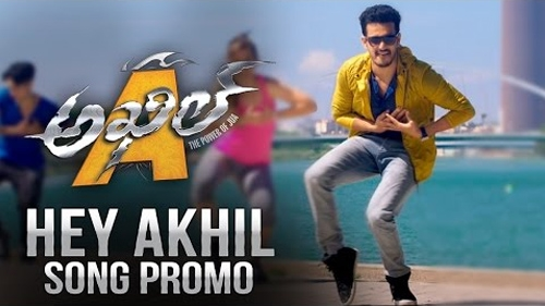 hey akhil song promo akhil movie