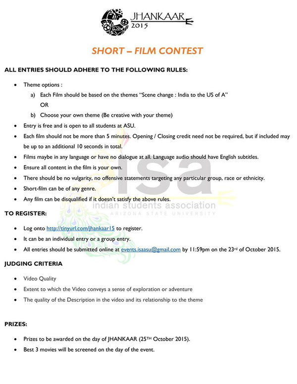 film criteria That's not just a full list of credits you need proof that the film meets certain criteria: in order to be eligible, the film must be over 40 minutes in length.