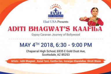 Ekal USA Brings A Fundraiser 'Aditi Bhagwat's Kaafila' On May 4th In AZ