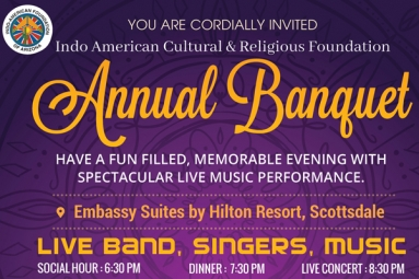 Indo American Cultural & Religious Foundation - Annual Banquet