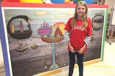 Arizona Girl 5th Grader in Doodle 4 Google Competition