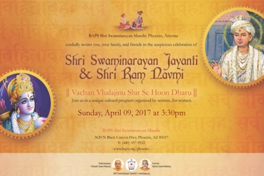 Swaminarayan Jayanthi & Sri Ram Navami for women in Arizona