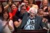 Bernie Sanders Talks At The Rally In Phoenix