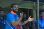 india vs australia, bumrah first six, india vs australia kohli s reaction after jasprit bumrah s first international six, Jasprit bumrah