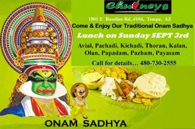 Chutneys Onam Sadhya special lunch