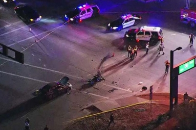 A Motor Cycle Passenger Killed In a Crash at Phoenix