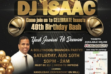 Dj Isaac's 40th Bollywood Birthday Bash