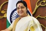 sushma swaraj france, sushma swaraj france, eam sushma swaraj speaks with french foreign minister after azhar s asset freeze, Eam sushma swaraj