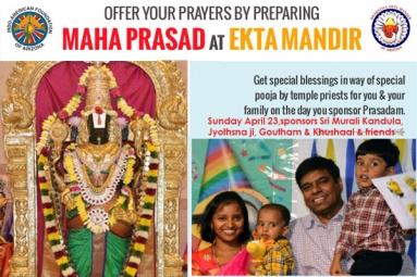 Maha Prasad at Ekta Mandir