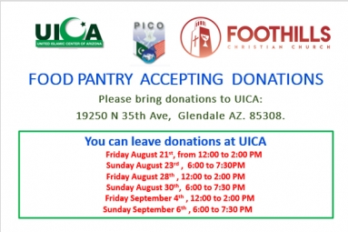 FOOD PANTRY ACCEPTING DONATIONS - PICO