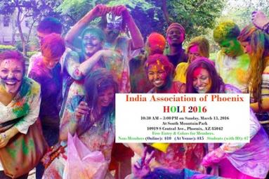 India Association of Phoenix set for Grand Holi 2016 Celebrations