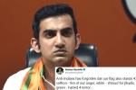 gautam gambhir turns politician, gautam gambhir turns politician, forget jail gautam gambhir s suggestion for indian flag shamers, Cricket