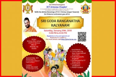 Grand And Auspicious Sri Goda Ranganatha Kalyanam Event On Saturday In Phoenix
