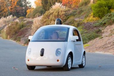 Google shows off self-driving cars