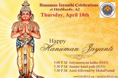 Hanuman Jayanthi Celebrations - IACRFAZ