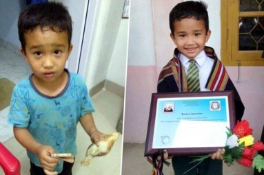 Mizoram Boy, Who Took Injured Chicken to Hospital with All Money He Had Receives Award
