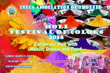 Holi 2018 - India Association of Phoenix