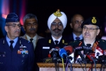 tri services press briefing, indian army, indian army navy air force joint press briefing, Indian army