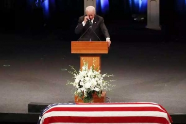 John McCain Memorized as Hero, Fighter, Wiseacre