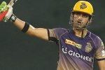 Gautam Gambhir, Gautam Gambhir, gambhir narine help kkr beat kxip by eight wickets, Chris lynn