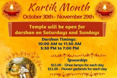 Kartik Month Oct 30 to Nov 29 2020
