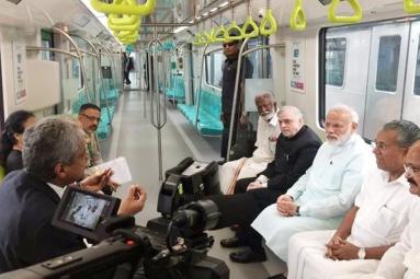 Prime Minister Narendra Modi inaugurates Kochi Metr