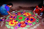importance of rangoli and its effects on environment, importance of rangoli and its effects on environment, spiritual and cultural significance of making rangoli outside the house, Kannada