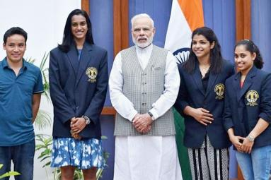 Modi hosts national sports awardees, invites ideas to improve sports