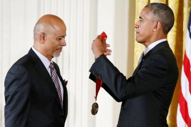 Obama awarded Indian-origin physician with National Humanities Medal!