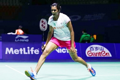 P V Sindhu lifts 1st super series premier title!