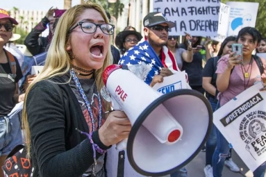 Phoenix Students Walk Out From School To Protest on DACA Decision