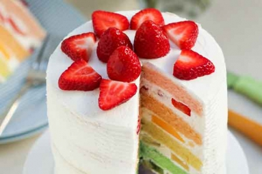 Rainbow Cake Easy Recipe - make at home